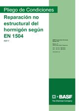 Reparación no estructural del hormigón según EN 1504