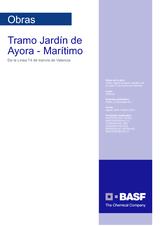 Tramo Jardín de Ayora - Marítimo Tranvía Valencia