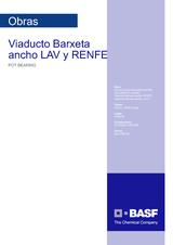 Viaducto Barxeta Ancho LAV y RENFE