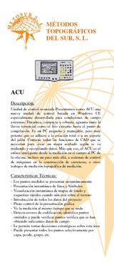 Controlador alfanumérico ACU en entorno