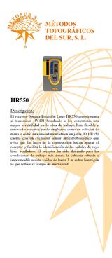 Detector láser HR 550 con soporte para LL400-LL500