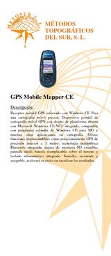 gps mobile mapper ce: