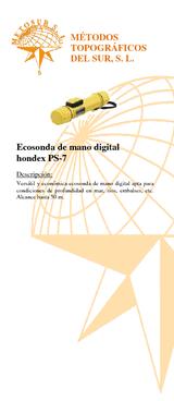 Hondex PS-7 Ecosonda de mando digital
