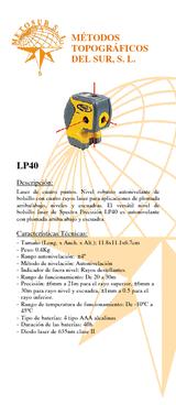 Láser LP-40-1 de puntos (4 puntos) con estuche y accesorios visualización