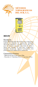 Medidor de distancia por láser HD150
