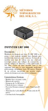 Medidor de distancia por láser INFINITER LRF 1000