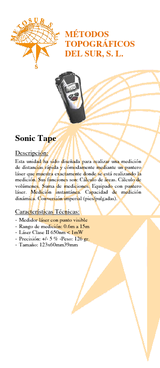Medidor sónico con puntero láser SONIC TAPE