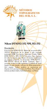 NPL-352 Estación total 5 compensador de doble eje