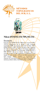 NPL-821 Estación total 3 compensador de doble eje