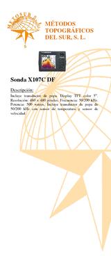 Sonda X107C DF Lowrance