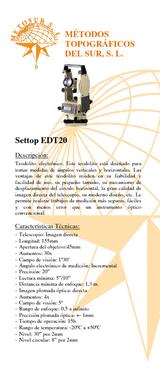 Teodolito electrónico EDT-20