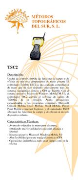 Trimble TSC2con survey controller sin radio