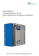 Evaporadores al vacío VACUDEST para depuración de aguas residuales