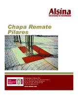 Chapa remate pilares