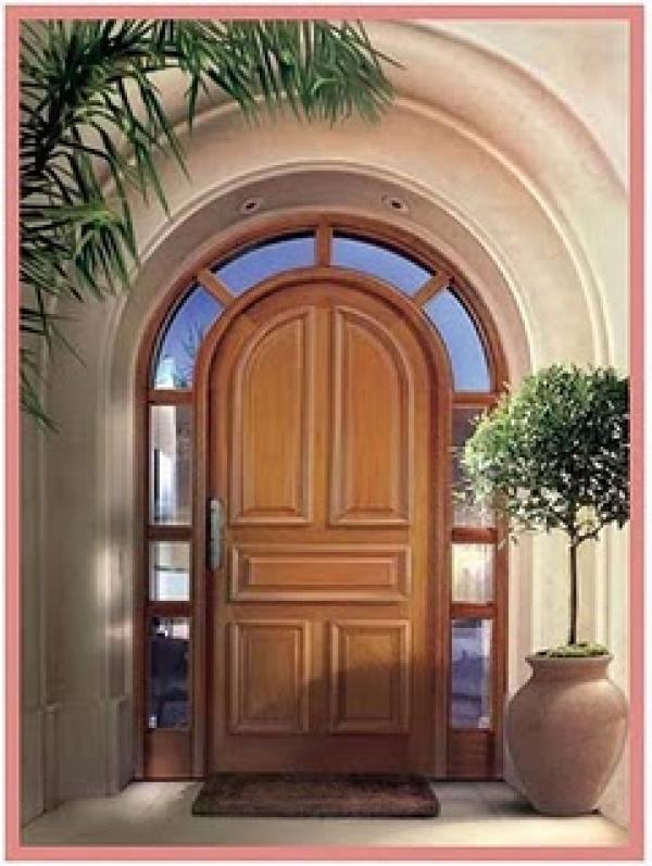 Puerta entrada construm tica for Puertas de madera para exteriores de casas