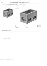Portada de Arqueta 140x70x105 H 3c Para Fibra Optica