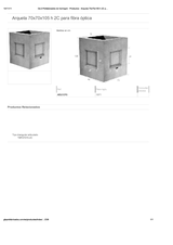 Portada de Arqueta 70x70x105 H 2c Para Fibra Optica