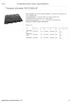 Portada de Triangular Articulada Tafo12060 2p