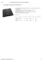 Portada de Triangular Articulada Tafo6060 1p