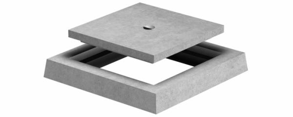 Imagen de Tapa y marco de hormigón para arqueta