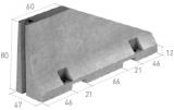 Imagen de Barrera tipo New Jersey asimétrica (1 cara)