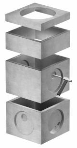 Imagen de Esquema de colocación y posibilidades de montaje de las arquetas