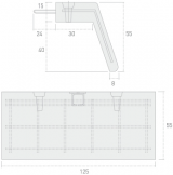 Imagen de Imposta V-5 (con anclajes) de 125x34x55 h