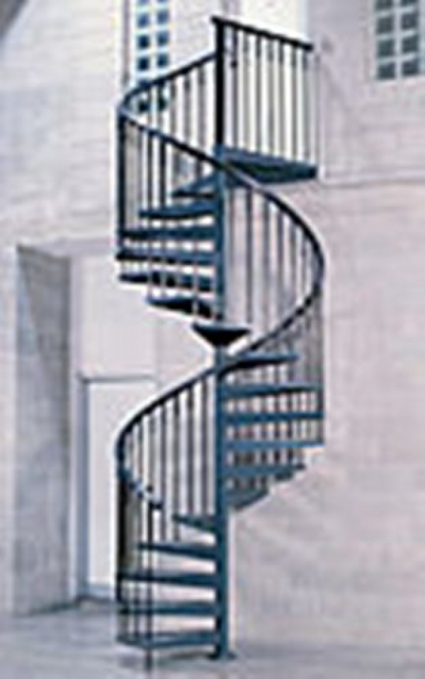 Escaleras de caracol construm tica for Escaleras de metal para exteriores