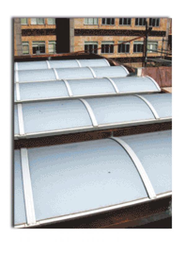 Cubierta de cobre y lucernario construm tica for Cubiertas acristaladas