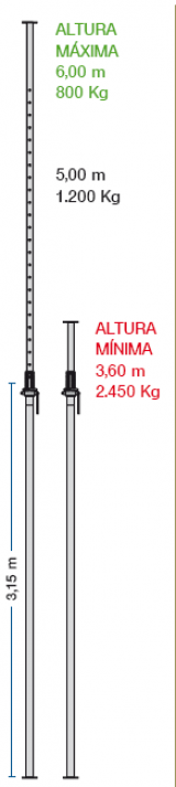 Imagen de Puntal Alisan 6 metros