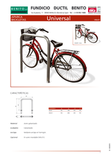 Portada de Aparca Bicicletas Universal Ficha Tecnica