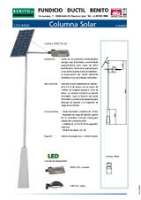 Portada de Columna Solar Led Ficha Tecnica