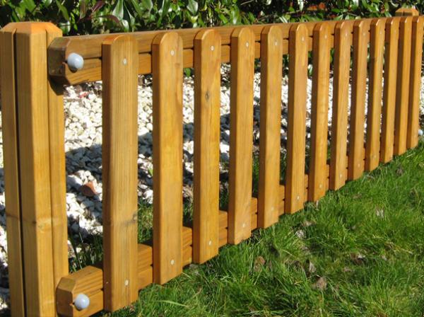 Valla de madera construm tica - Vallas de plastico para jardin ...